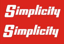 SIMPLICITY GARDEN TRACTOR VINYL DECALS  DS