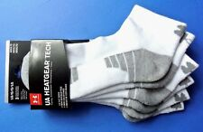 Under Armour UA Low Cut Socks 3 Pack Large White Grey Heatgear Tech Training New