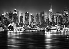 NEW YORK CITY SKYLINE MANHATTAN Photo Wallpaper Wall Mural BLACK&WHITE 335X236cm