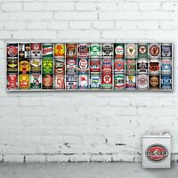 1700 x 400mmm OIL CAN COLLECTION GAS STATION DISPLAY MURAL BANNER SIGN GARAGE