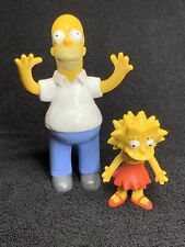 1990 20th Century Fox Rubber Bendable Simpsons Toy Homer Lisa