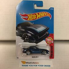 Mazda RX-7 #337 * BLUE * 2017 Hot Wheels Case P & Q * C28