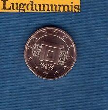 Malte 2012 - 1 centime d'Euro - Pièce neuve de rouleau - Malta