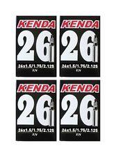 """KENDA 26"""" High Pressure 48mm XL - Long Presta Valve Mountain Bike Inner Tube x 4"""