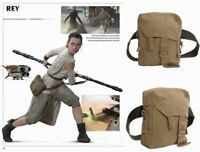 Star Wars Rey Bag Cosplay Costume Props Brown Canvas Side Schoolbag Belt Xcoser