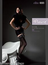 Stay Up Stockings Ester 40 den by Fiore Stretchy Hold Ups - Green, Blue, Violet