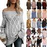 Women Winter Loose Knitted Sweater Jumper Tops Ladies Pullover Knitwear Outwear