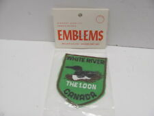 Embroidered White River the Loon Canada Emblem Patch