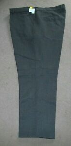 "New Men's  Boys Dark Brown Trousers Waist 54"" Inside Leg 33""  Wool"