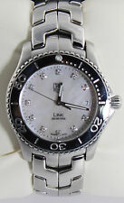 WJ1114.BA0575 Tag Heuer Link  Mens Mother of  Peral Diamond Steel Quartz Watch