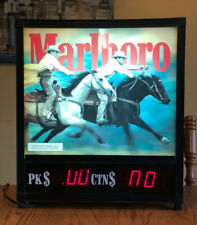 Vintage Old Marlboro Cowboys on Horses Lighted Cigarette Sign Display