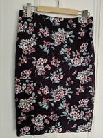Laura Ashley pencil skirt Size 12 stretch floral lined