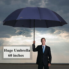 60 inch Super Big Business Men Woman Rain Windproof Umbrella Top Quality Anti-UV