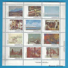 Canada Stamps 1982 30 Cent Scott* 966a Canada Day Manitoba Sheet Of 12