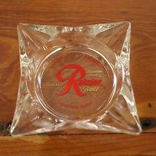 Vintage 1960s Rainer Beer Seattle Washington Clear Glass Pub Bar Ashtray USA