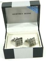 Geoffrey Beene Men's Pewter Cufflinks Set NIB MSRP $35 A1