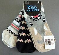 3 Paar Damen Sneaker Socken Strümpfe Indien Elefant Ethno Bunt 37-42 Primark