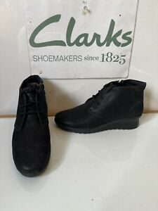 Clarks Cloudsteppers Smart Leather Boots Size UK 5 EU 38