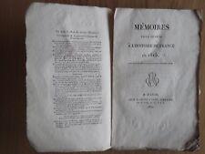 MEMOIRES POUR SERVIR A L'HISTOIRE DE FRANCE EN 1815. NAPOLEON MEMOIRS.