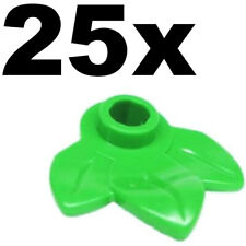 NEW LEGO - PLANTS - Plant Green Bright x 25 - Round 1 x 1 with three leaves