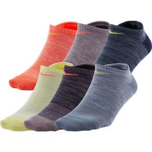 Nike Everyday Women's No Show Socks 6 pairs multi 916  Dri Fit Lightweight nwt