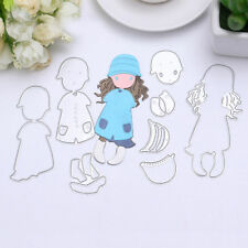 Girl Metal Cutting Dies Stencil Scrapbook Paper Embossing Craft Album Decor DIY