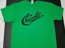 New Chevy Chevrolet Vintage script T-Shirt V8 logo emblem nos conv logo c10