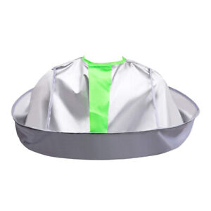Waterproof Adult Foldable Hair Cutting Cloak Umbrella Cap e Salon Barber US I7L5