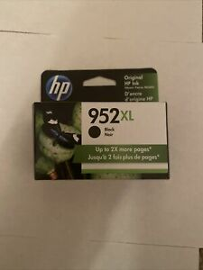 NEW Genuine HP 952XL Black Ink Cartridge, High Yield F6U19AN OEM Exp. 2022