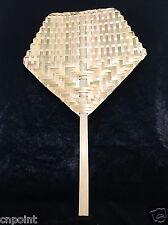 Thai Ancient Bamboo Hand Fan Handmade Craft Collectible Decor Gift Woven Native