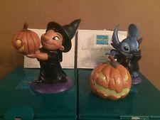 """WDCC Lilo and Stitch - Stitch """"Trick ..."""" & Lilo """"... or Treat"""" - New in Boxes"""