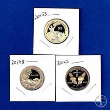 2015 2016 AND 2017 S Proof Sacagawea Native American Dollar Set-Three Dollars