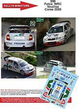 DÉCALS 1/24 réf 998  SKODA Fabia  WRC Vouilloz  Corse 2005
