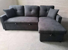 Gray sofa bed
