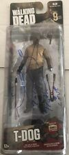 The Walking Dead Signed T-Dog Figure Autograph Irone Singleton AMC McFarlane