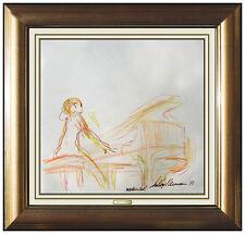 LEROY NEIMAN Original PAINTING Authentic Pastel Hand Signed Artwork Portirait