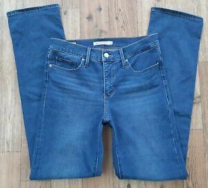 Ladies Levi 314 shaping Straight jeans size 10 Waist 28 Long Leg 32 Levis