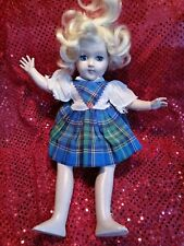 "1949-53 Ideal P90 Toni Doll 14"" Tall Blonde Hair Gray Eyes Original Dress"