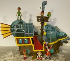 Disney Jake and the Never Land Pirates Deluxe Bucky Pirate Ship Playset RARE