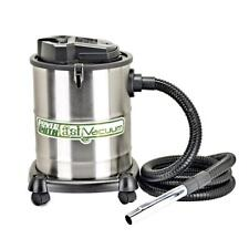 Dry Ash Canister Vacuum Stainless Steel 4 Gal. Fireplace Stove Grill Clean Up