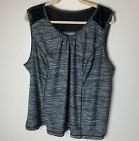 Danskin Now Women's Tank Top Size 4X Gray Black Gym Workout Athletic Fitness