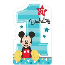 Party Supplies 1st Birthday Boys Mickey Mouse Blue Fun To Be One Invitations