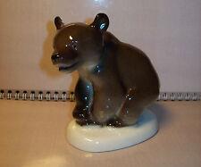 Vintage USSR1950-1960 LFZ Lomonosov factory Porcelain Figurine BEAR Original