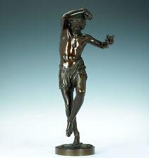 1850 Dancing Neapolitan Fisherman francisque J. Duret Bronze delafontaine