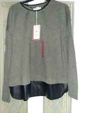 Pull and Bear Ladies Womens Green Black Long Sleeve Shirt Top Size M new w tags