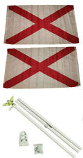 3x5 St. Patrick's Cross 2ply Flag White Pole Kit Set 3'x5'