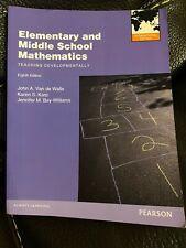 Elementary And Middle School Mathematics: Teaching By John A. Van De Walle