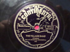 CONTINENTAL 78 RECORD/ SULA'S MUSETTE ORCH/THE VILLAGE BAND/SKATER'S WALTZ/POLKA