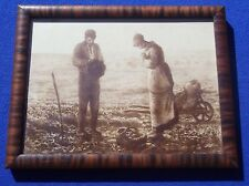 "Antique 1900's Jean Francois Millet ""Angelus Praying Farmers"" Print Framed"