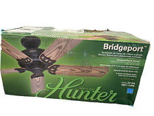 "Hunter Bridgeport Bridgeport 52"" Indoor / Outdoor Ceiling Fan - 5 - Bronze"